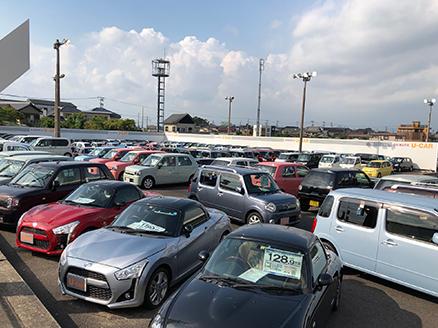 豊富にご用意させて頂いております、展示車の風景です。