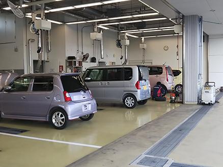 整備工場も完備!!点検、車検、整備もお任せください!!